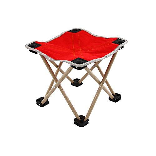 ZDD Mazawa, Mehrzweck-Angelhocker, tragbarer Klappstuhl, Zughocker, erwachsener Klappstuhl ( Farbe : Rot )
