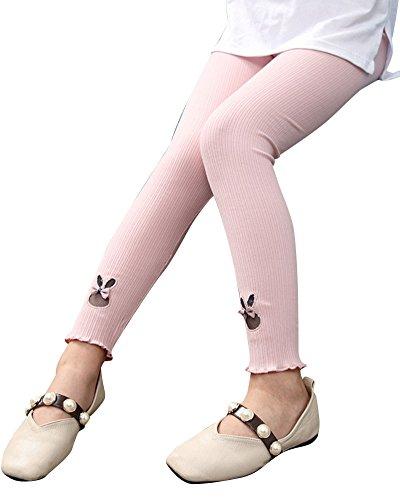 Le ragazze inverno caldo leggings elastiche pantaloni pink 140