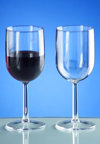 Weinglas 1/4l SAN Kunststoffglas, 2ER-SET