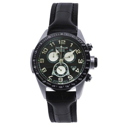 Insignum Herren-Armbanduhr Corium Stahl Schwarz Ip212306