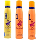 Beverly Hills Polo Club 8 & 1 Fragrance Spray For Women Set Of 3.