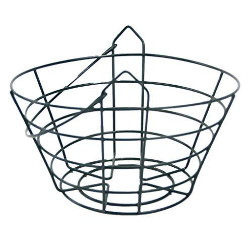 D DOLITY Metall Wäschekorb Aufbewahrungskorb Schrank Organizer Aufbewahrungsbox Golf Basket Golfball Korb - Fit 30 Bälle -