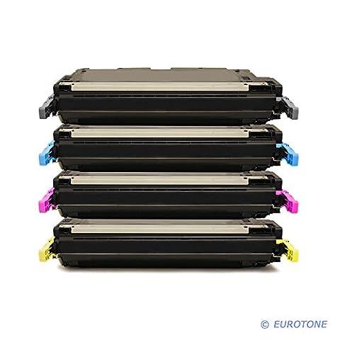 4x Eurotone Remanufactured Toner Cartouche pour HP Color LaserJet 3800 DN N DTN remplace Q6470A-Q7583A 503A 501A