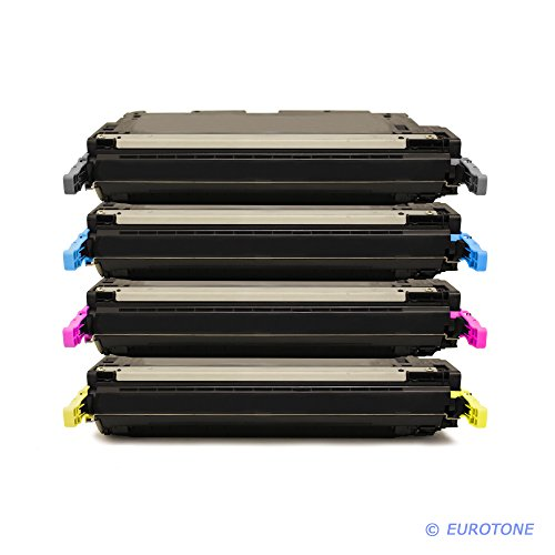 C9733a Magenta Remanufactured Toner (Eurotone High Quality Toner Cartridges remanufactured für HP Color Laserjet 5500 5550 DN DTN HDN N ersetzten C9730A C9731A C9732A C9733A Patronen im Spar Set - kompatible Premium Kit Alternative - non oem)
