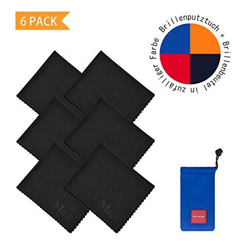 Micv 6 Mikrofaser-Reinigungstücher - für Handys, Laptops, Tablets, Brillen, Silberwaren und empfindliche Oberflächen