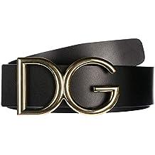 Dolce Gabbana ceinture homme en cuir noir d77374a5aff