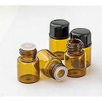 furnido 30PCS 1ml/2ml/3ml Mini Bernstein Glas Aromatherapie ätherisches Öl Flasche Öffnung braun Test Flasche... preisvergleich bei billige-tabletten.eu