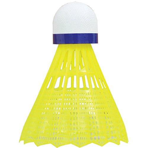 Talbot Torro Badminton und Federball TECH 350 - gelb-blau - 3er Pack