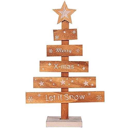 RWINDG Mini Holz Frohe Weihnachten Baum Schreibtisch Tisch Dekor Anhänger Weihnachtsbaum Ornamente Geschenkideen AußErgewö Hnliche