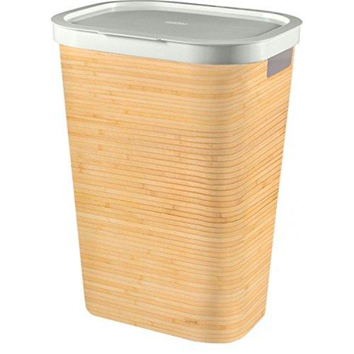 Curver Infinity - cesto para la ropa, imitación bambú, 60L