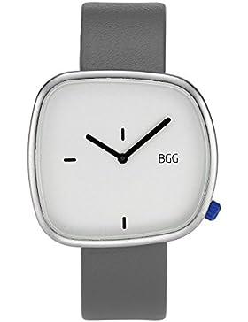 JSDDE Uhren,Minimalismus Armbanduhr Japan Quarzwerk Uhr Zeitlose Design PU Lederarmband Weiß Zeiger Analog Quarzuhr...