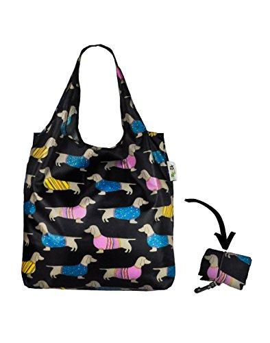re-uz-lifestyle-shopper-foldable-reusable-shopping-grocery-bag-sausage-dogs-summer