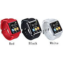 Fancy Cherry® [actualizado versión] U80Bluetooth 4.0SmartWatch Reloj Teléfono Móvil SPORTSWATCH podómetro para Smartphones IOS Apple iPhone 4/4S/5/5C/5S/6/6Puls Android Samsung S3/S4/S5/S6Nota 2/Nota 3/nota 4HTC Sony, mujer, rojo