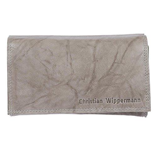 Christian Wippermann Damen Leder Geldbörse Geldbeutel mit TÜV Geprüftem RFID Schutz inklusive Geschenkbox