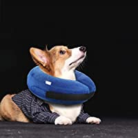 PetIsay Collar de Cono Hinchable para Perros y Gatos, Cuello de recuperación Suave Ajustable para Mascotas, no bloquea la visión