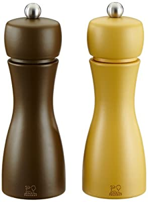 Peugeot Tahiti Duo Automne Pepper and Salt Mill Set, 15cm from Chomette