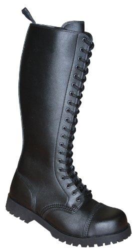Boots & Braces 20-Loch Vegetarian (Vegi) schwarz, Unsisex Erwachsenen Stiefel, 601505 Noir - Noir