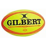 Gilbert Omega Ballon de Rugby, Fluorescent, 5