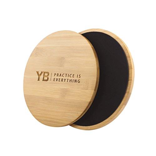 YOGABODY Zapatillas de Ejercicio Abdominales de Madera de bambú para Entrenamientos en Suelos de Madera Dura, Azulejos o alfombras
