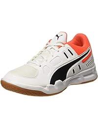 Puma Kids-Unisex Auriz Jr White Black-Nrgy Red-