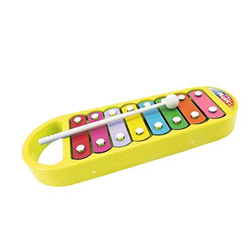 NiceButy Kinderkinder tragbares Instrument 8 Ton Xylophon Musik Spielzeug Weisheit Entwicklung gelb