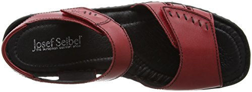 Josef Seibel  Lisa 01, Sandales Bout ouvert femme Red (Hibiscus)