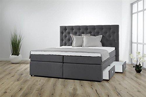 Breckle Boxspringbett 160 x 200 cm Lerche Box Mero Easy Big Bonnell Topper Gel Standard
