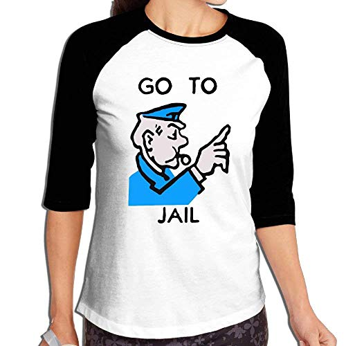 FHddg Women Go to Jail 3/4 Sleeve Raglan Tee - Womens 3/4 Sleeve Raglan Tee