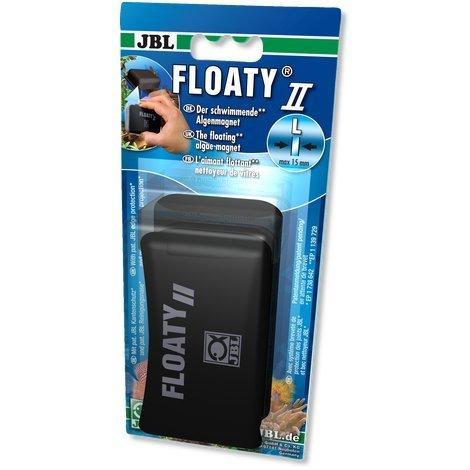JBL- Floaty II L max 15mm Glasstärke Schwimmender Scheiben-Reinigungsmagnet für Aquarien