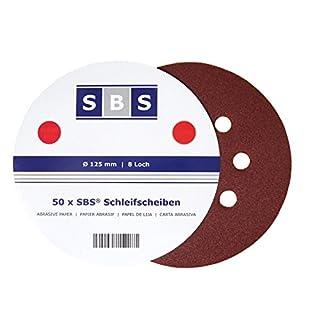 SBS Klett-Schleifscheiben | ø 125 mm | Korn 40 | 50 Stück | verschiedene Körnungen wählbar