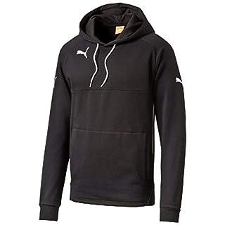 PUMA Kinder Pullover Hoody, schwarz (Black-White), 176, 653979 03
