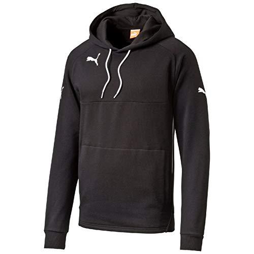 PUMA Kinder Pullover Hoody, schwarz (Black-White), 164, 653979 03