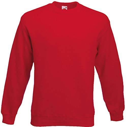 Fruit of the Loom - Sweatshirt \'Set-In\' XXL,Red