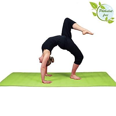Yoga-Matte LIFE 183 cm x 61 cm x 0,4 cm Yogamatte in vielen Farben rutschfest phthalatfrei für Gymnastik Turnen Pilates