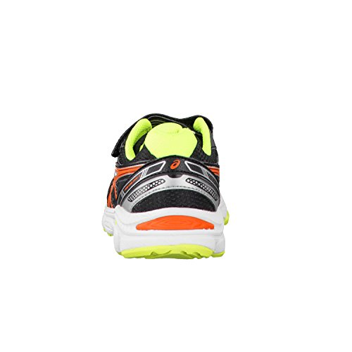 Asics Running Pre Galaxy 7 Ps, chaussures mixte adulte (BLACK/ORANGE/FLASH YELLOW)