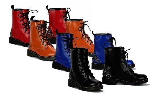 Femmes Chaussures à lacets bottes chaussures GROSSE LAINE Bottes avec rivets Chaussures Fallen PETIT aus. s'il vous plaît un numéro COMMANDER