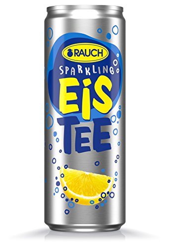 RAUCH Eistee Sparkling Zitrone, 24er Pack, EINWEG (24 x 355 ml)