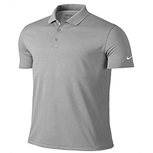 Nike Golf Mens Victory Dri-Fit Solid Polo Grey 818050 093 (l)