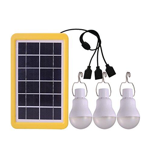 Solarlampe, Samber 3 Stück Campinglampe LED mit Haken, Campinglampe Zeltlampe Glühbirne mit Solar Panel Solarladegerät für Camping, Abenteuer, Angeln, Garage, Notfall, Stromausfall