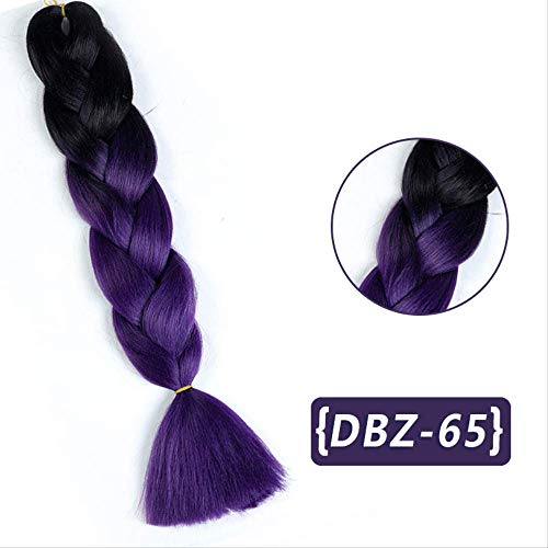 Yingteng 24 zoll 100 gr/paket Ombre Synthetische Kanekalon Flechten Haar Für Häkeln Zöpfe Falsche Haarverlängerungen Afrikanischen JINKAILI 24 zoll # 613 333 Zopf