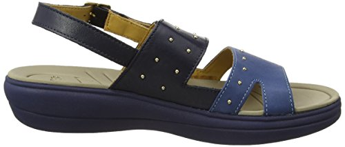 Padders Cameo, Sandales Bride cheville femme Blue (Navy/Combi)