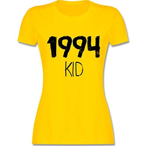 Shirtracer Geburtstag - 1994 Kid - Damen T-Shirt Rundhals Gelb