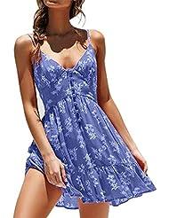 Vestido de Verano con Cuello en V y Falda con Cuello en V Vestido de Playa
