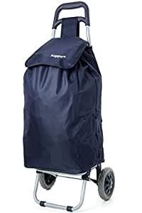 Hoppa Lightweight Shopping Trolley, Hard Wearing & Foldaway For Easy Storage Chariot à bagage, 60 cm, 47 liters, Bleu (Navy)