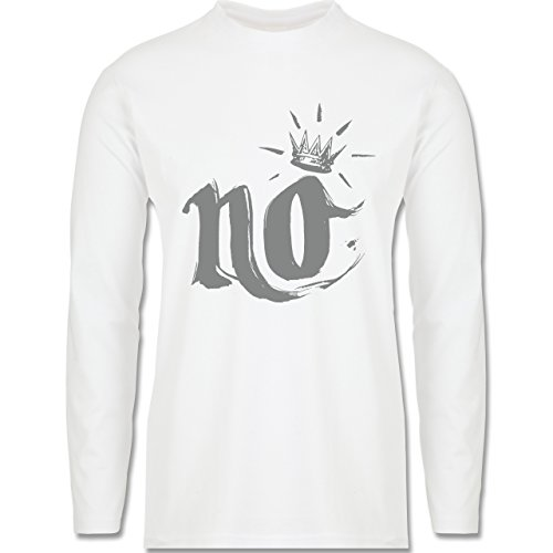Statement Shirts - Nö Krone - Longsleeve / langärmeliges T-Shirt für Herren Weiß