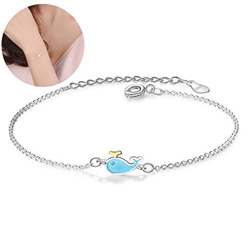 Hilai Netter 1PC Wal-Armband Seetier Knöchel-Armband-Charme-Armband-justierbares Armband-Geschenk für Frauen Mädchen