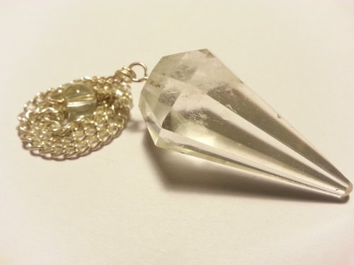 Pendolo gemma / pietra preziosa ametista cristallo di rocca ed altre sorte (cristallo di rocca)