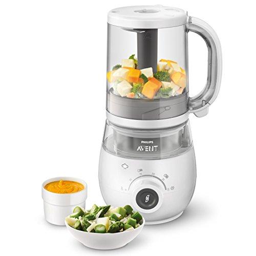 Philips Avent 4-in-1-Babynahrungszubereiter SCF883/01, Dampfgaren und Mixen, 4 Mahlzeiten, weiß - 3