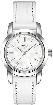 Tissot CLASSIC DREAM T0332101611100 de cuarzo, correa blanca, esfera blanco nácar