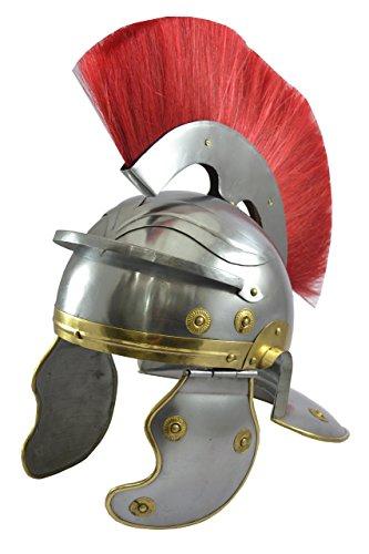 Indio instrumentos náuticos centurión romano casco con pluma roja/rojo del 10,24 x 12,99 16,93 en Como se muestra